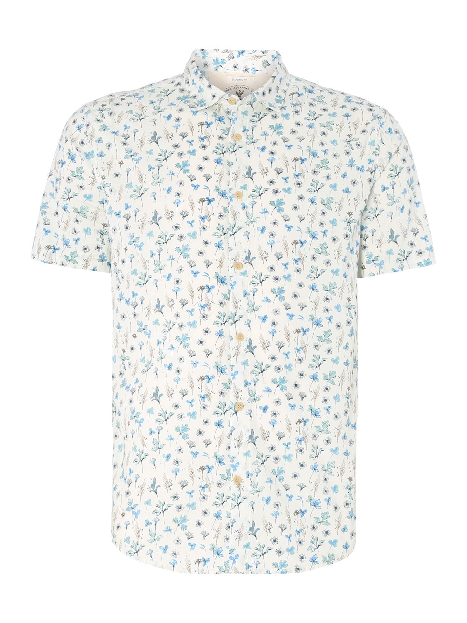 lois floral printed short sleeved shirt