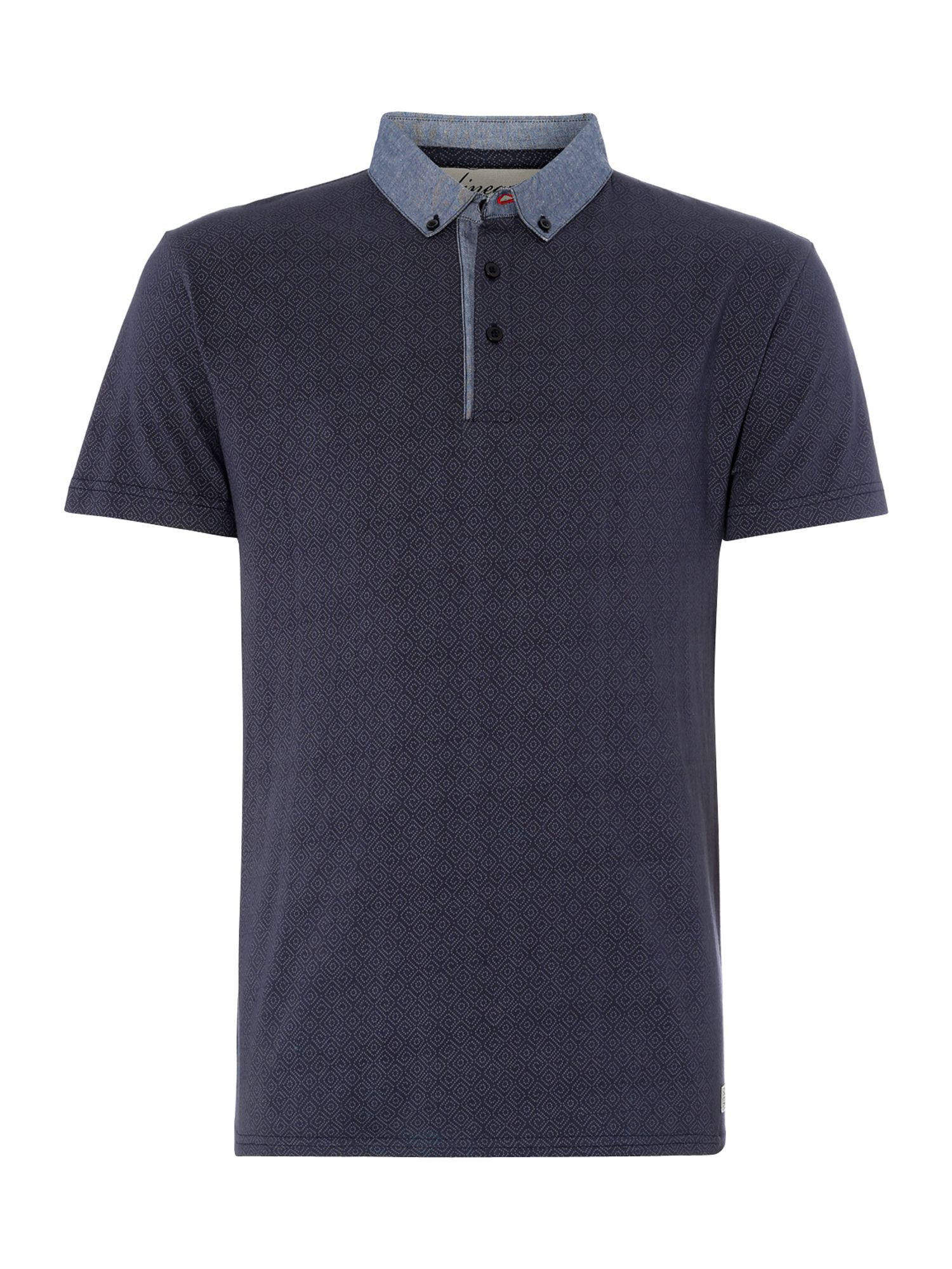jefferson geometric print polo