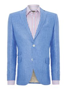 Giona ticket pocket linen blazer