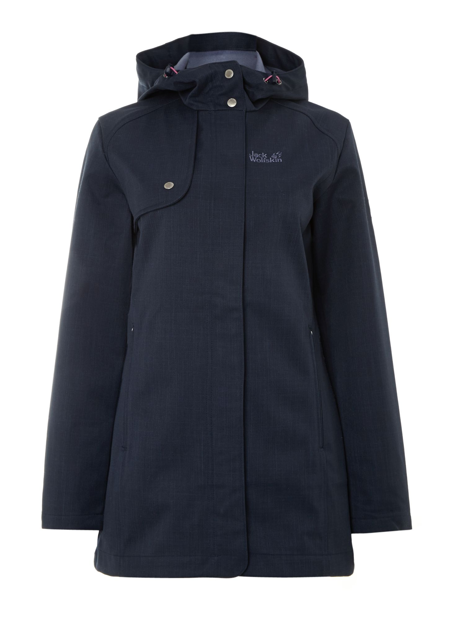 Harding Long Zip Up Coat