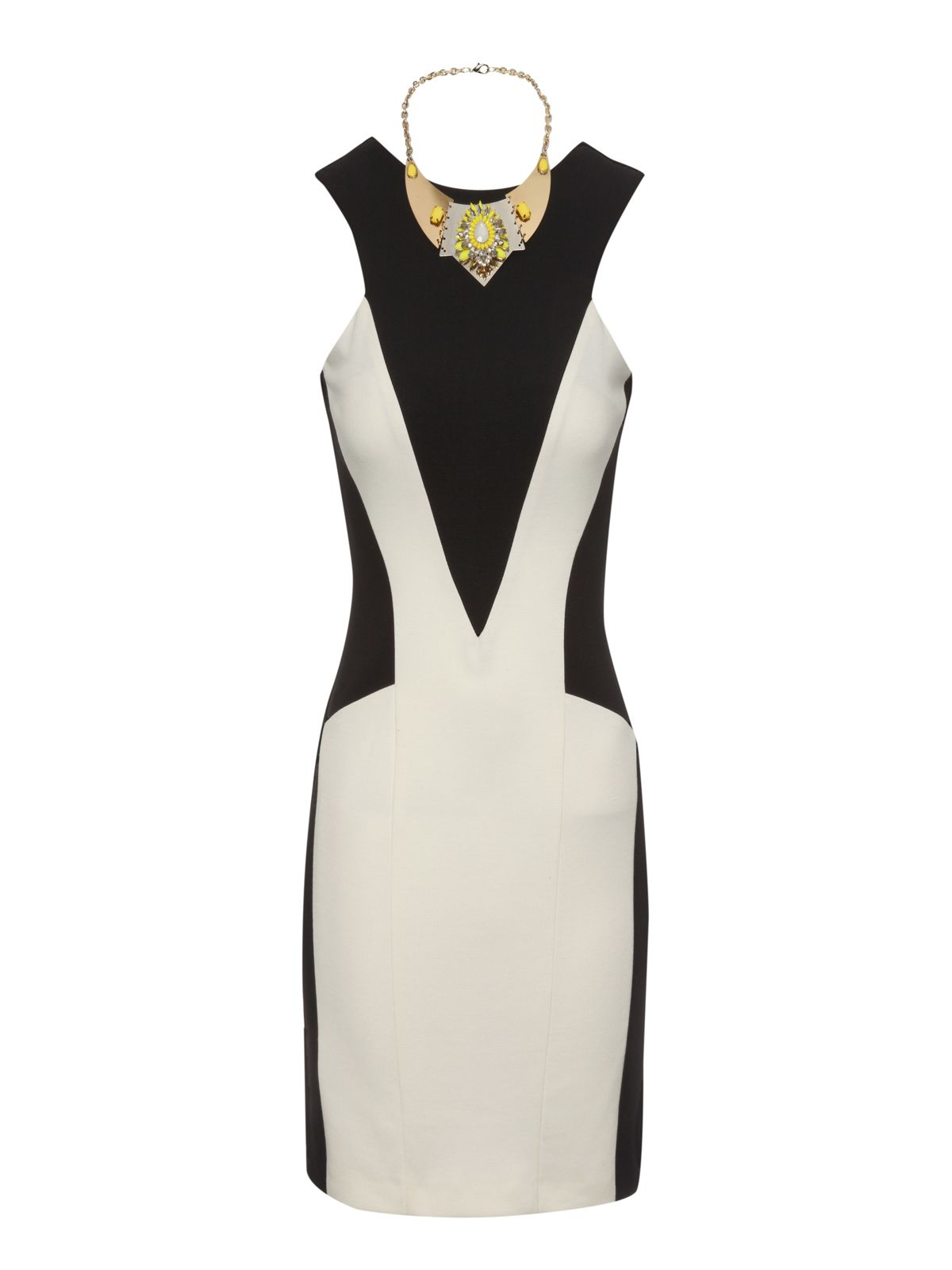 Monochrome Necklace Dress