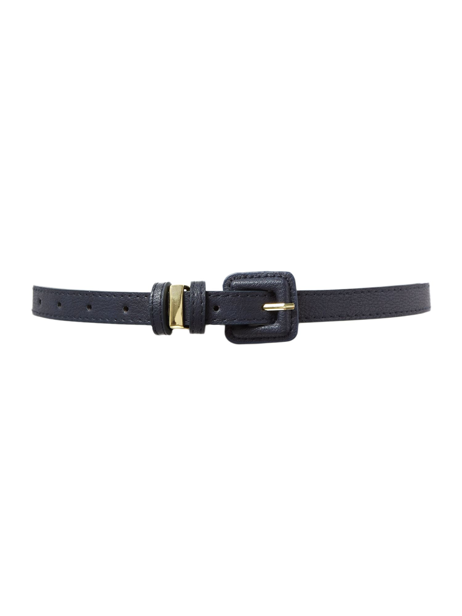 Covered buckle trouser belt