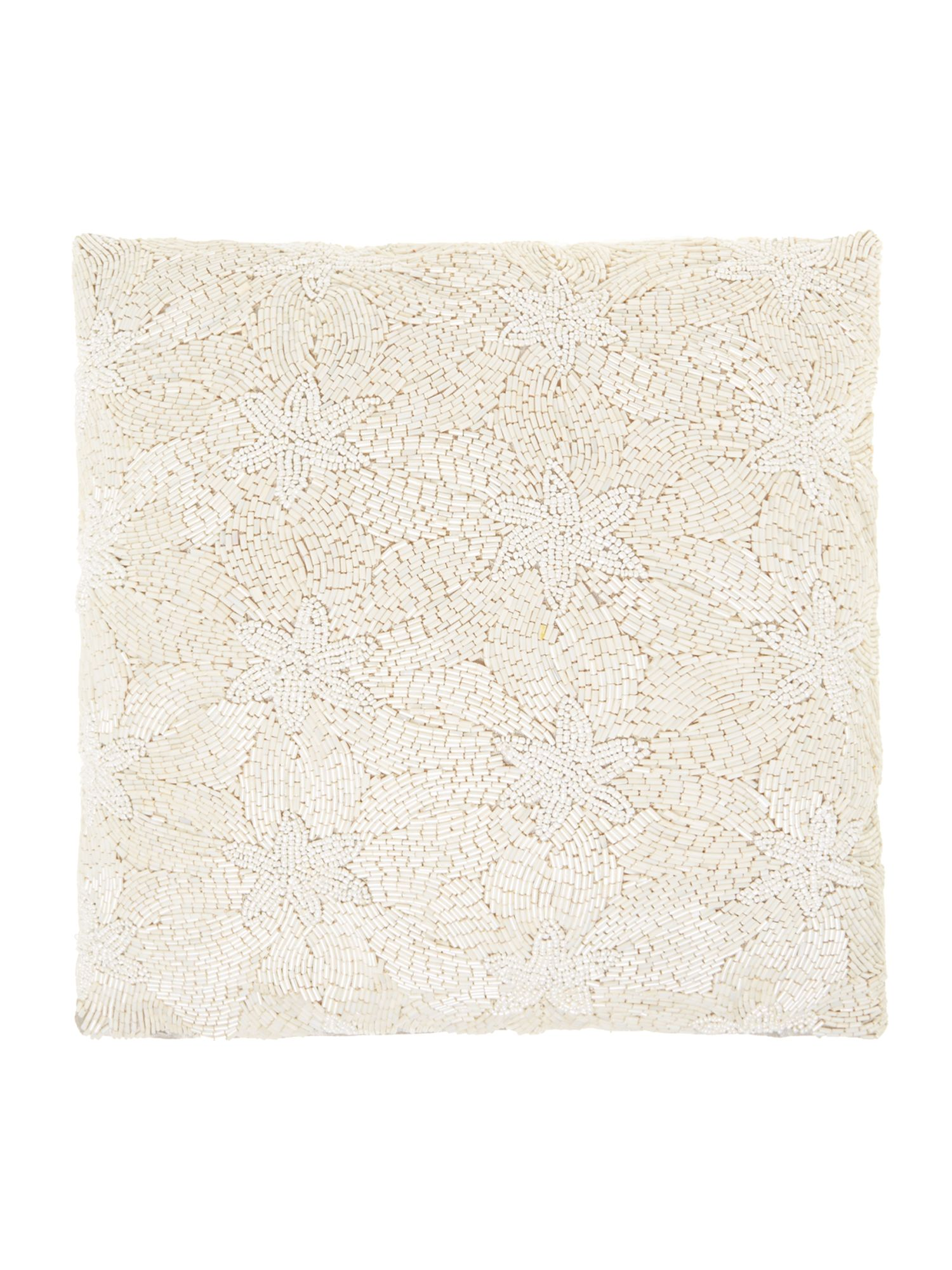 Ivory beaded cushion