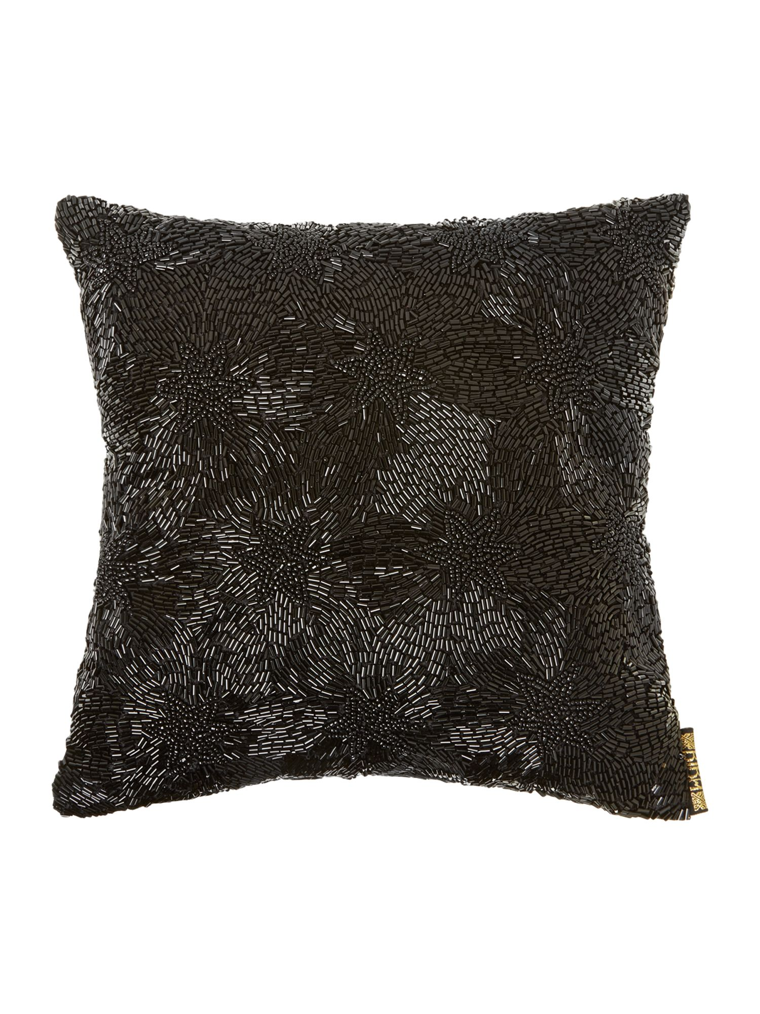 Black beaded cushion