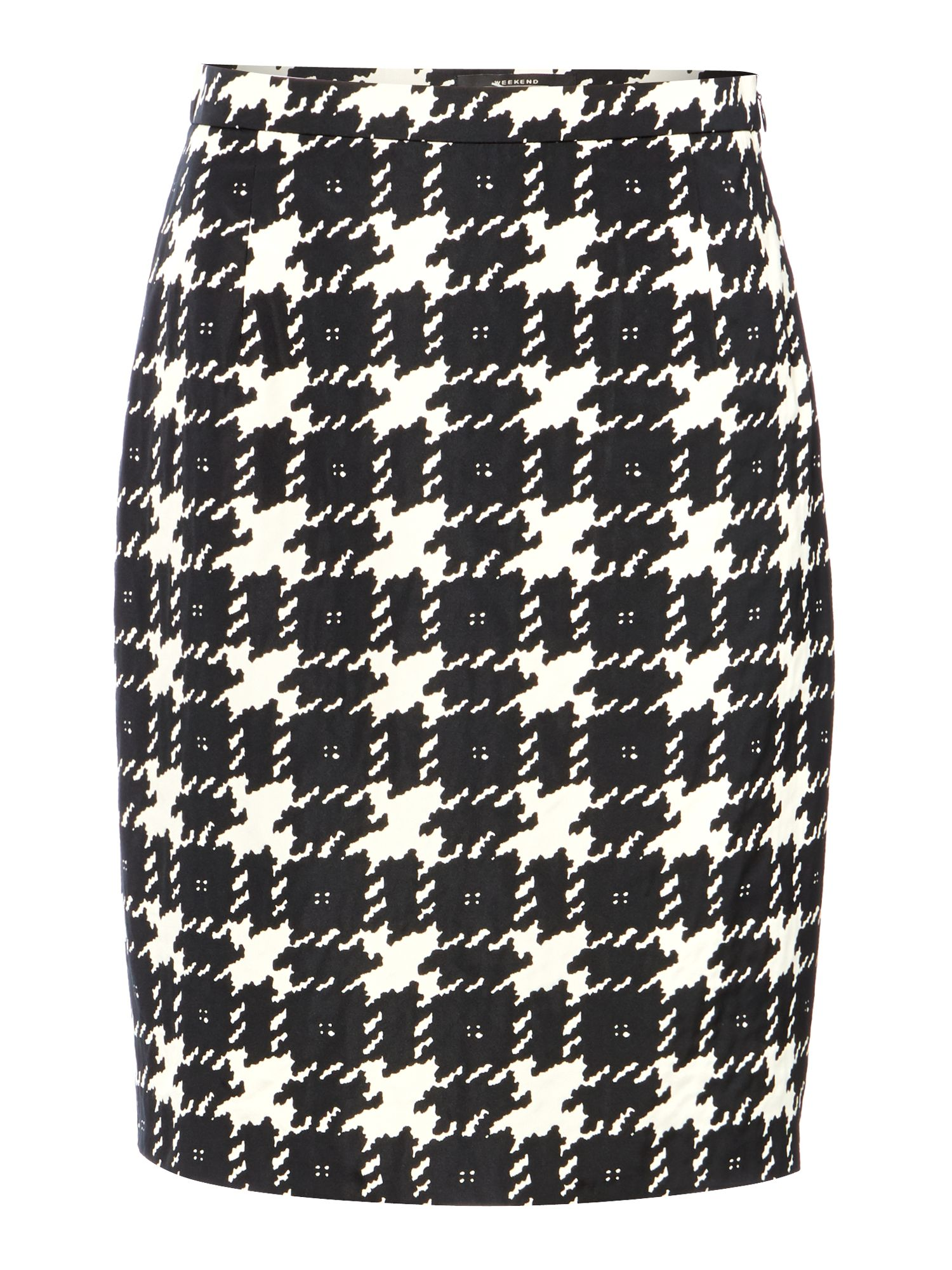 Spigola knee length hounds tooth skirt