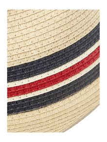Howick Paper straw trilby with woven band