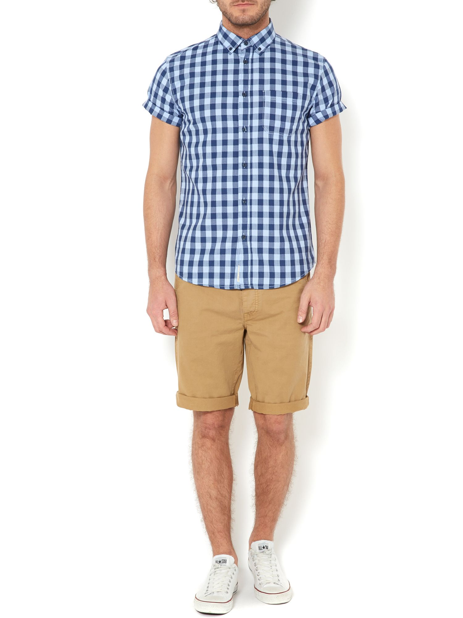 walton gingham short sleeved shirt