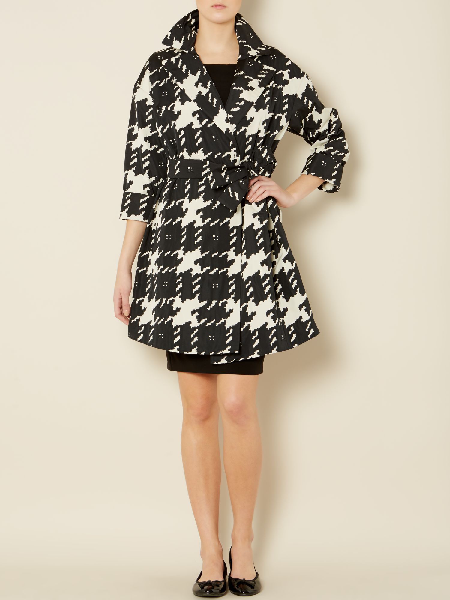 Caneva lightweight houndstooth mac