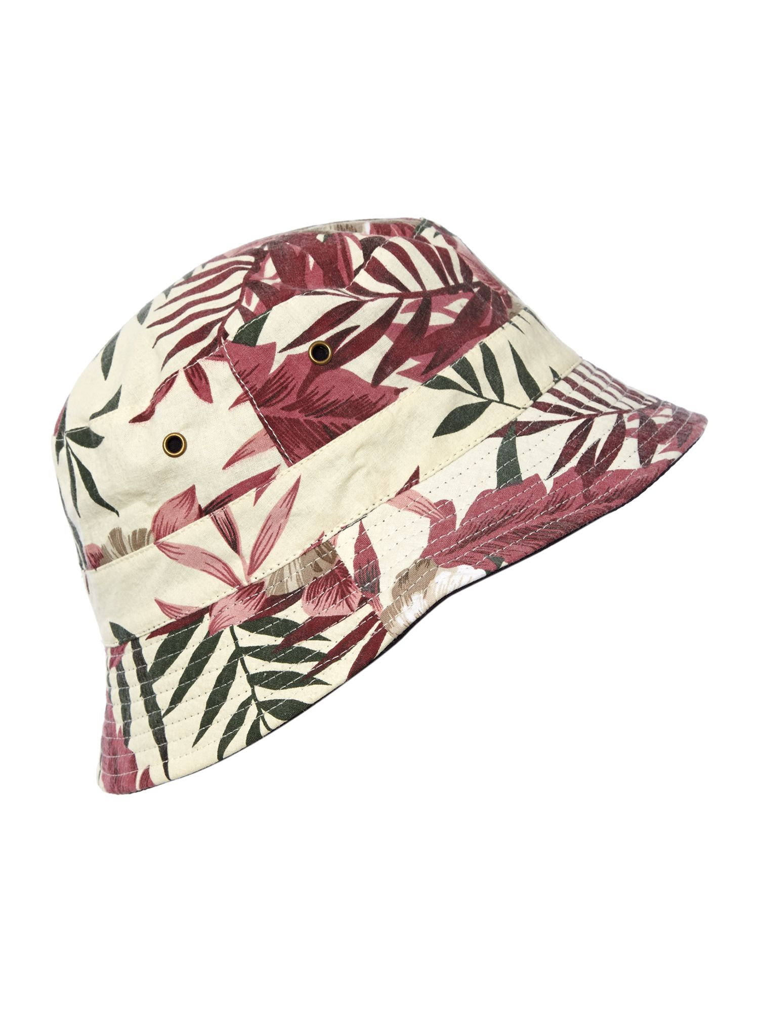 Floral reversible bucket hat
