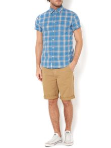Kennedy check short sleeved shirt
