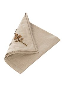 Serenity beaded napkins set of 4