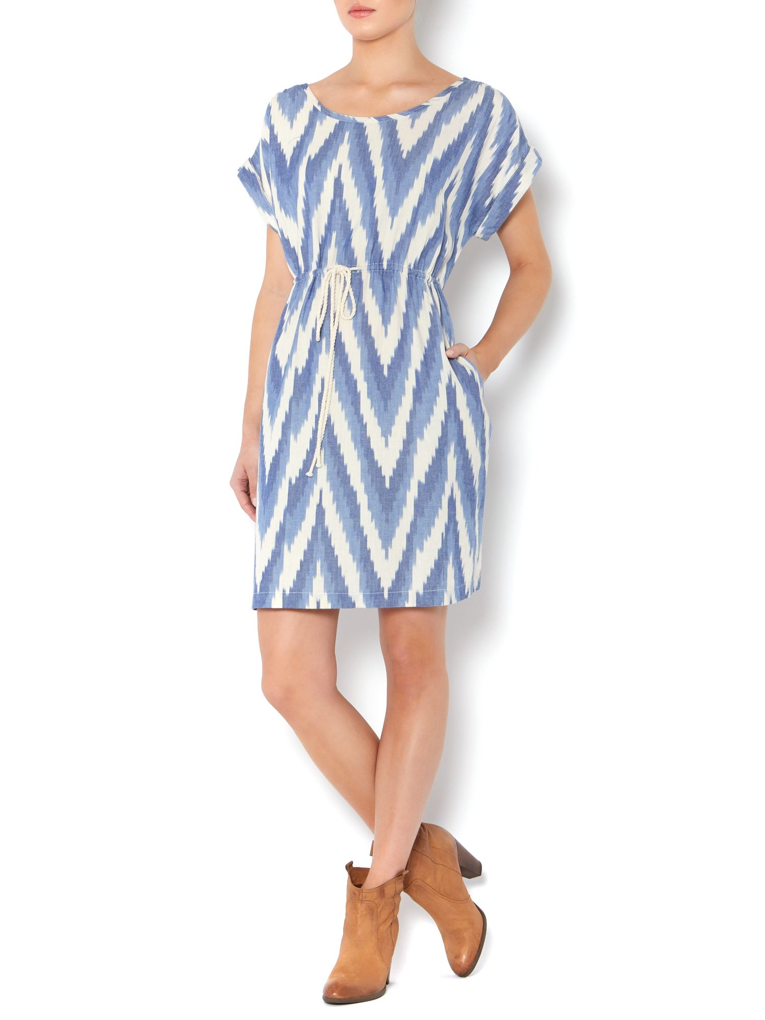 Ikat chambray dress