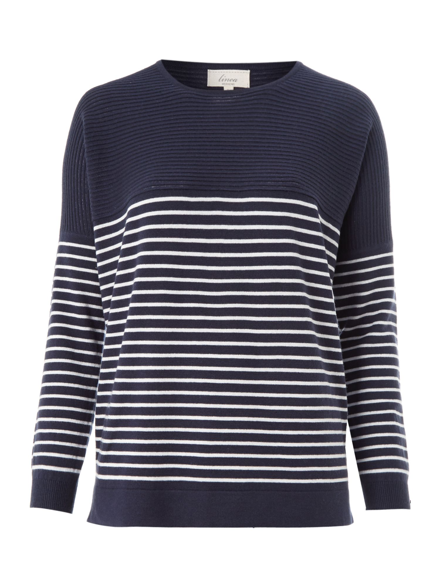 Oversize knit stripe jumper