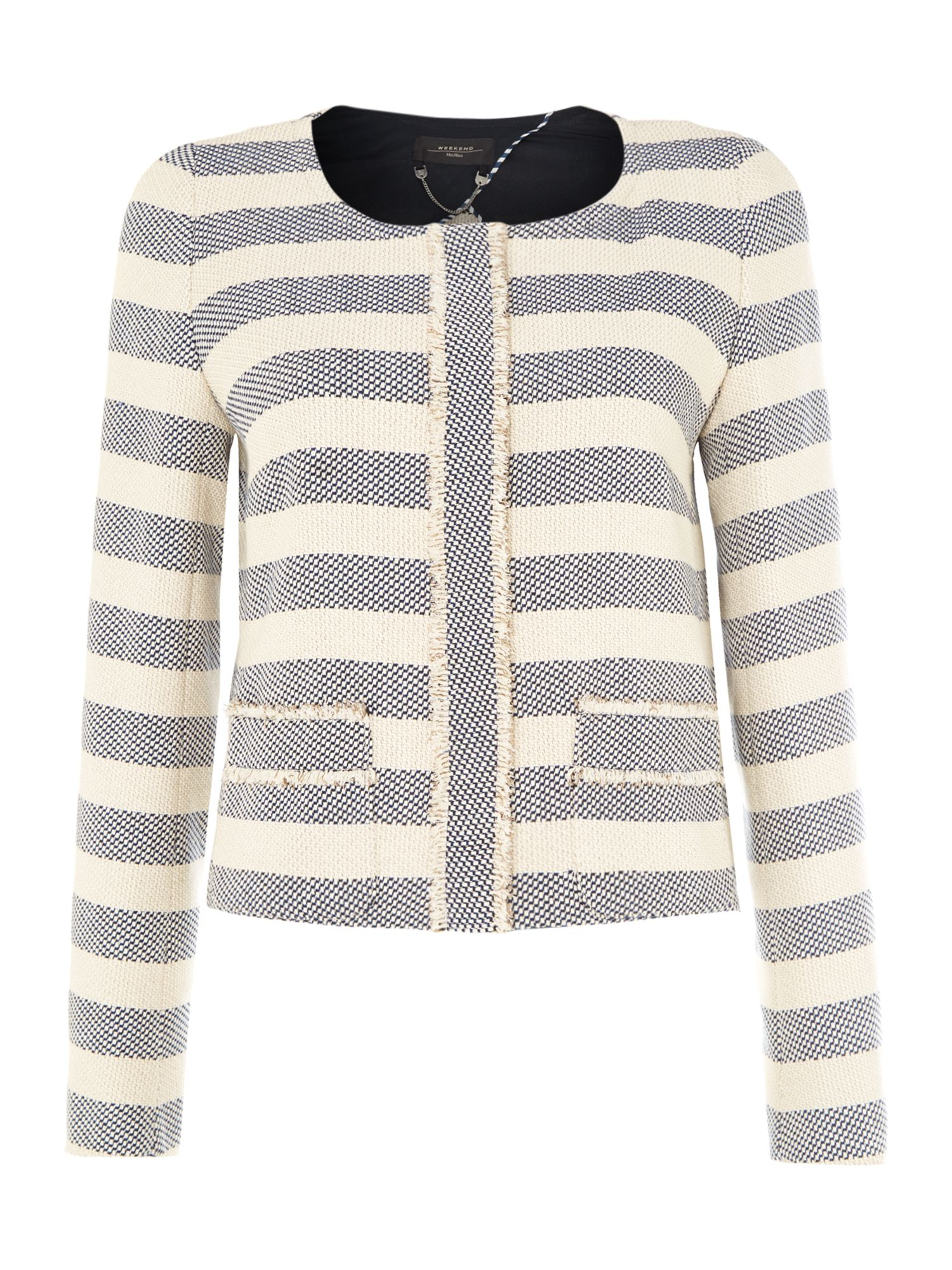Berto striped boucle jacket