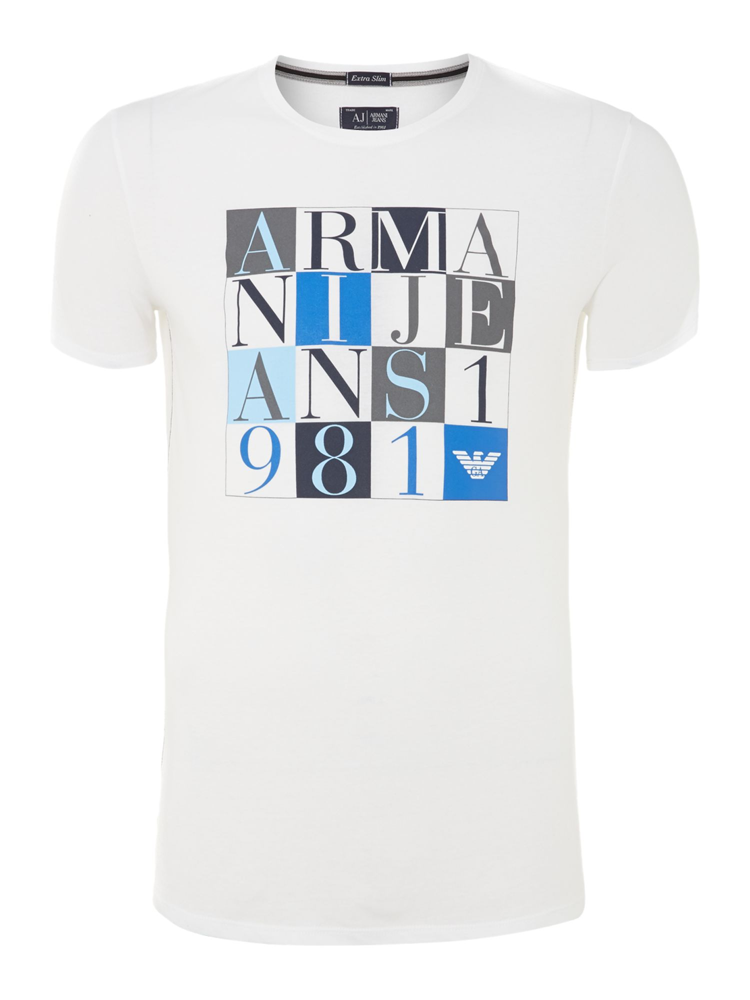 Armani blocks print t-shirt