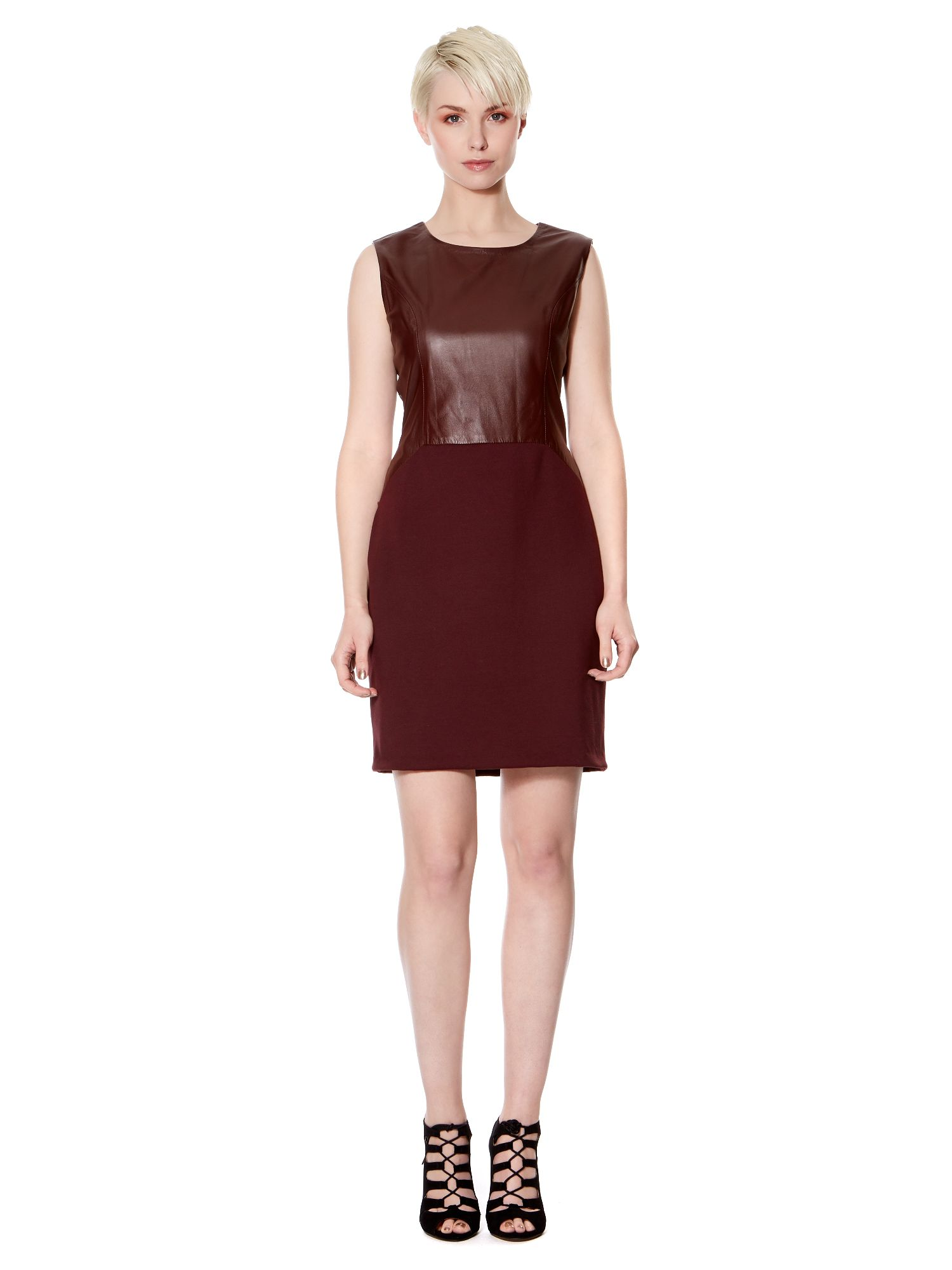 Leather and Ponte Dress