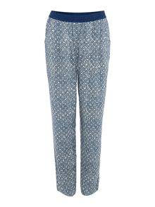 Tile print collection trousers
