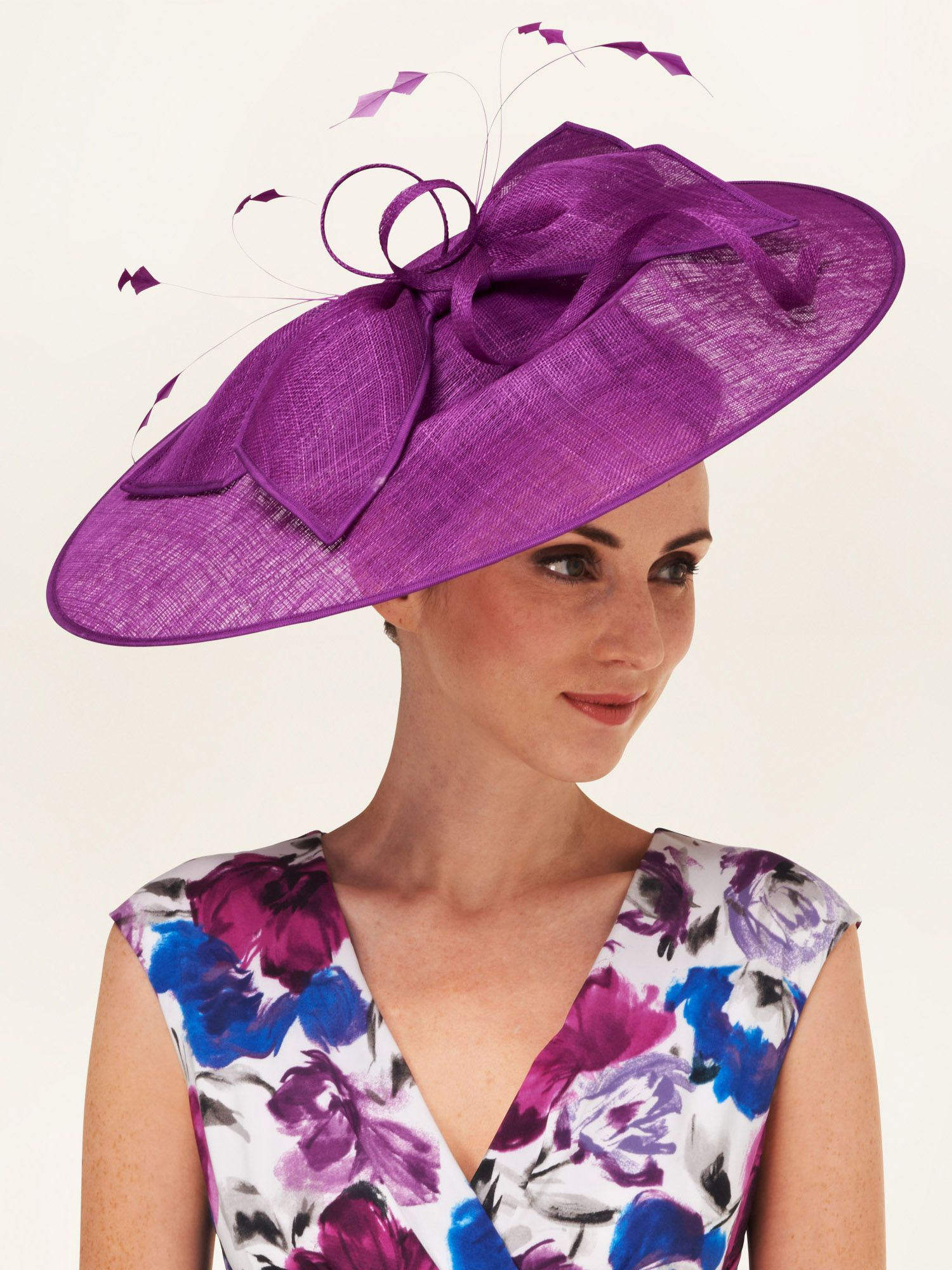 Charlotte bow trim disc hat