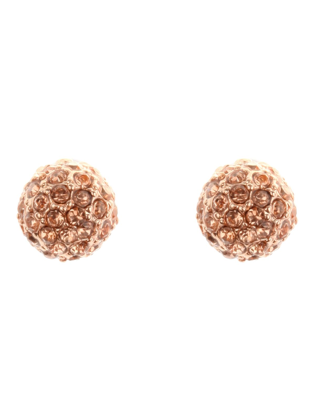 Diamante fireball earrings