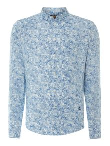Randall long sleeve reverse printed shirt