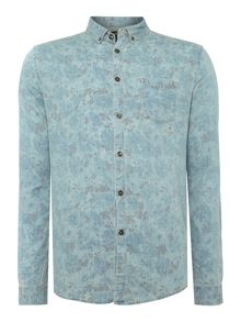 Thompson long sleeve flower print shirt