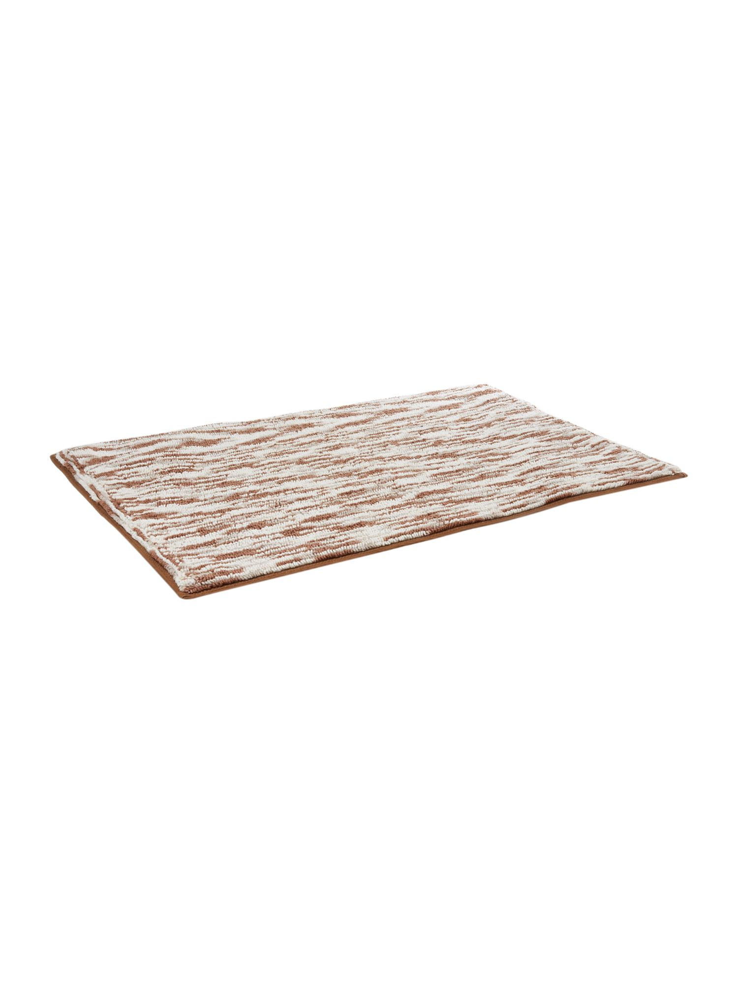 Natural thin stripe bathmat
