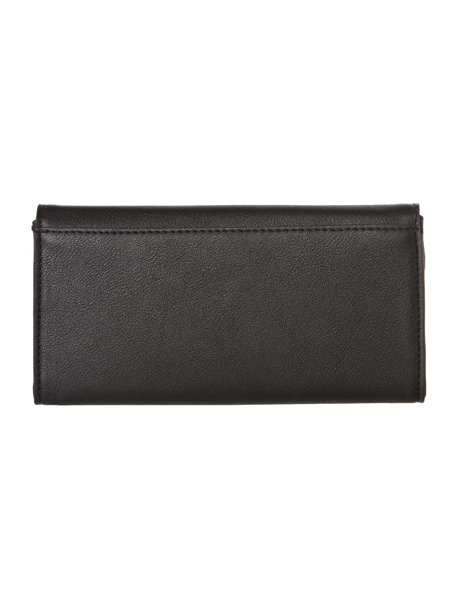 Adele large black flap over purse