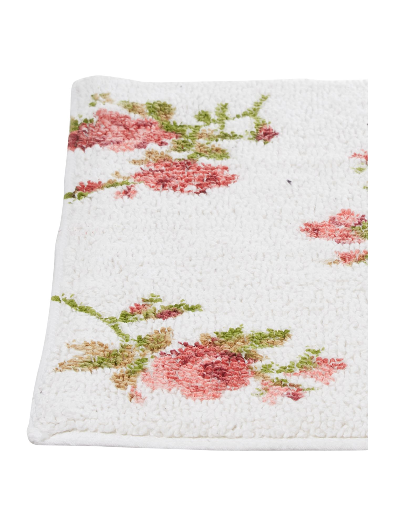 Scattered rose printed bathmat