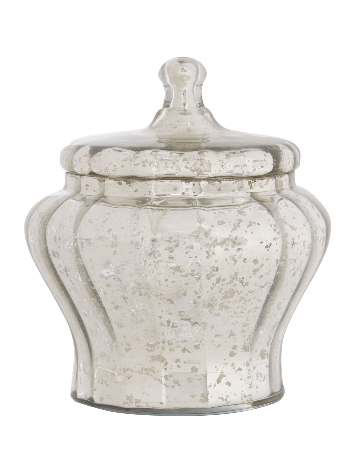 Shabby Chic Glass Mercury Apothecary Jar