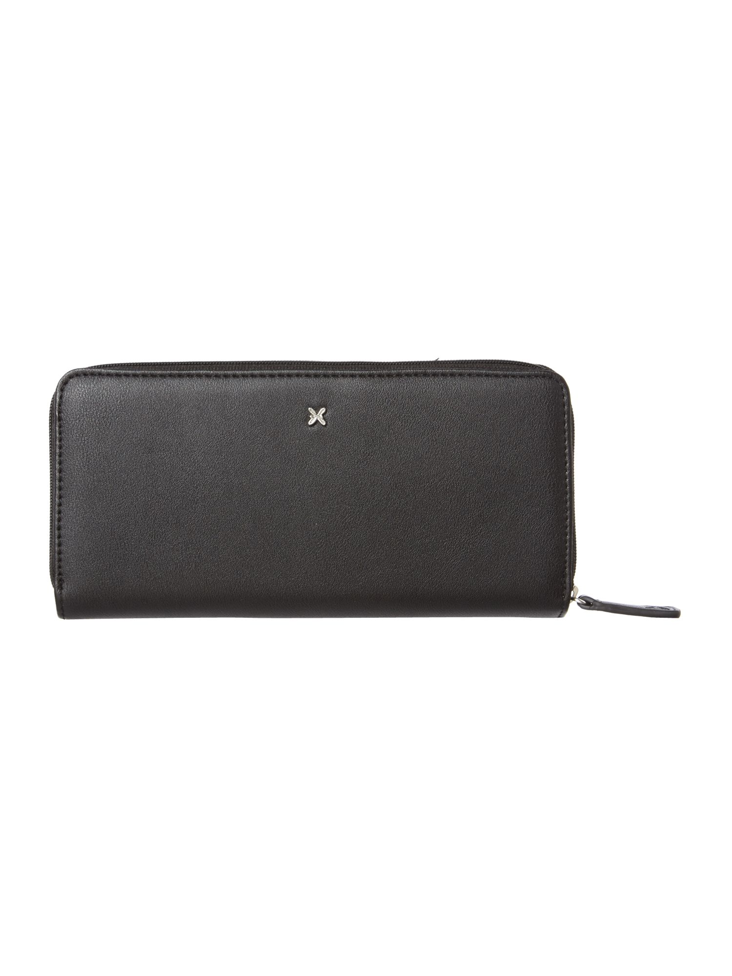 Vera large black zip around purse