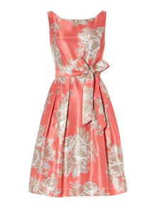 Printed Sash Tie Dress