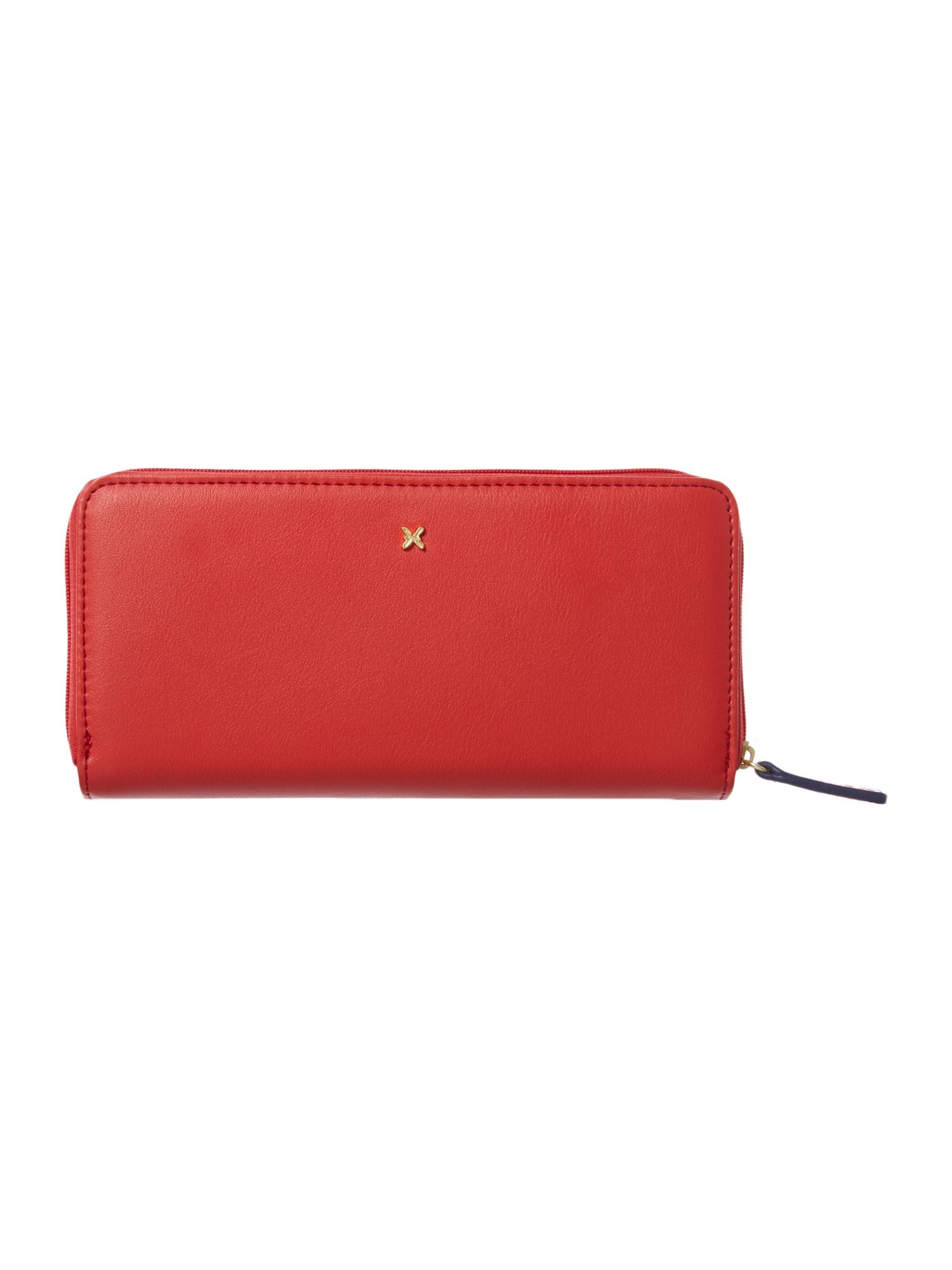 Vera large red zip around purse