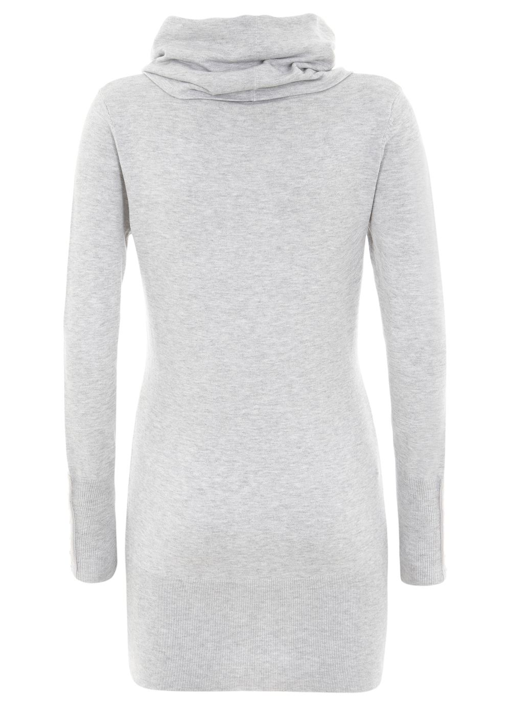 Silver grey cowl neck tunic