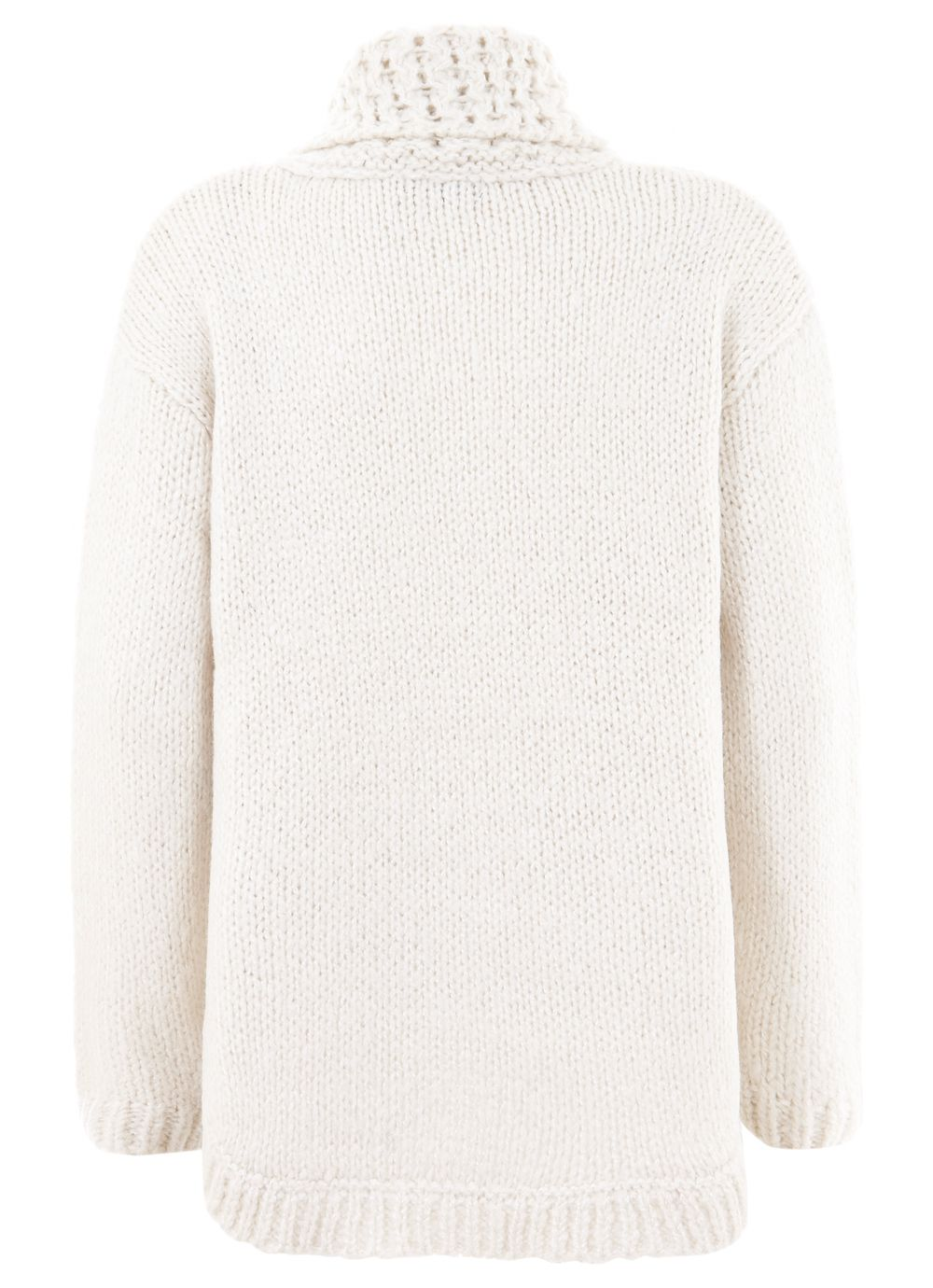 Cream wavy stitch ovoid knit