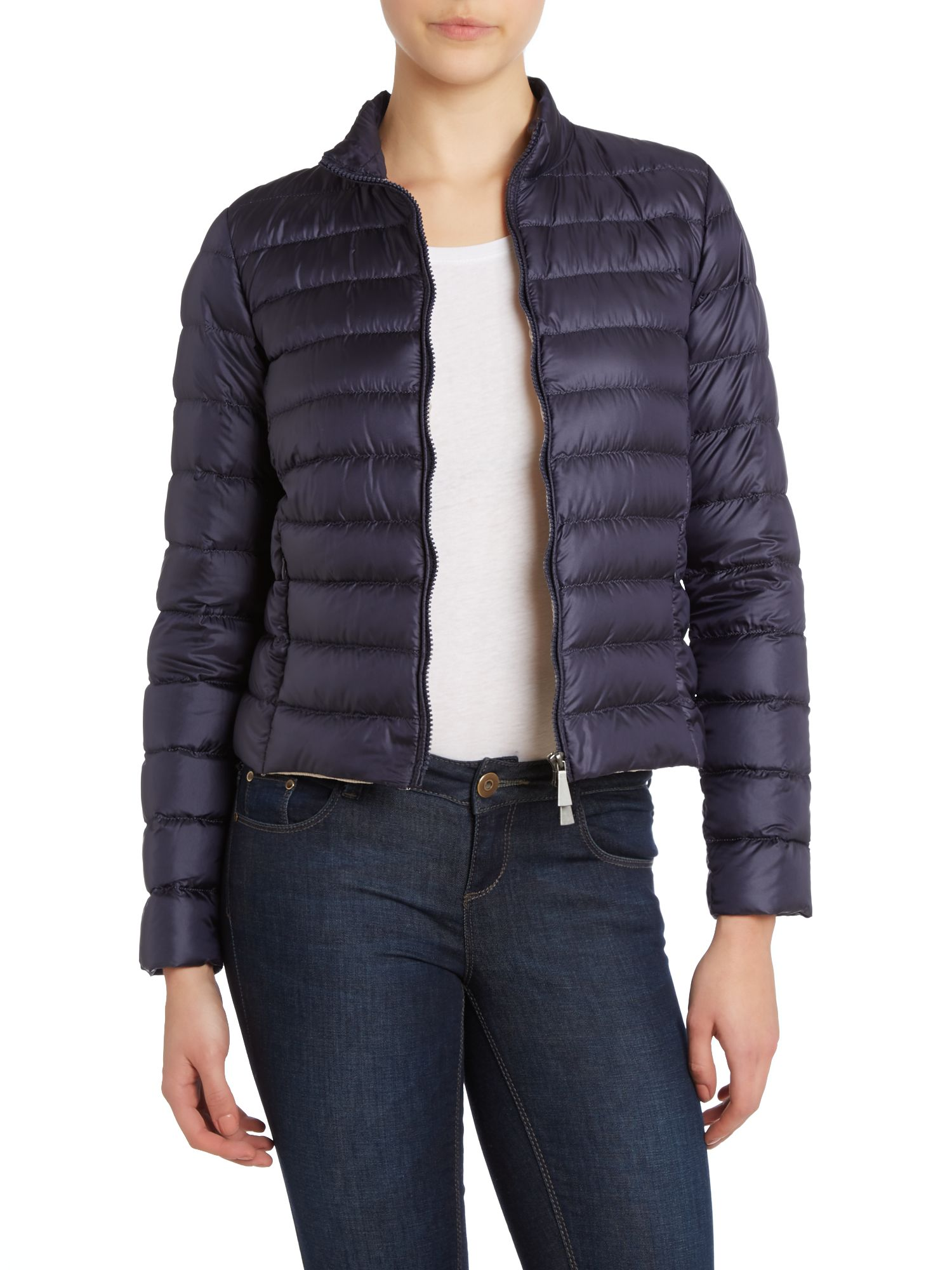 Vermeil zip up padded coat