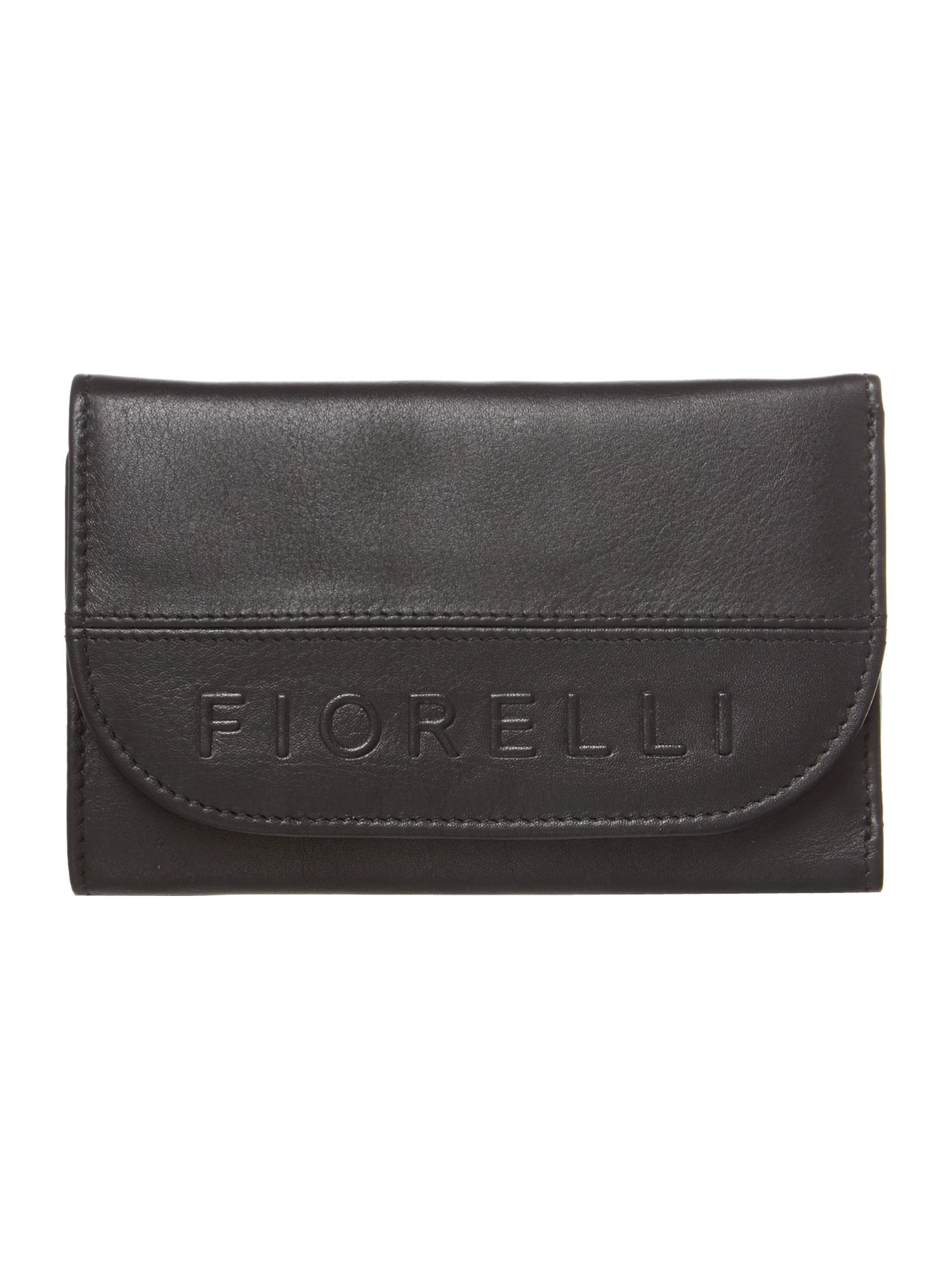 Neema small black flapover purse