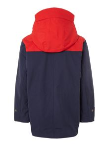 Boys pieced hooded jacket
