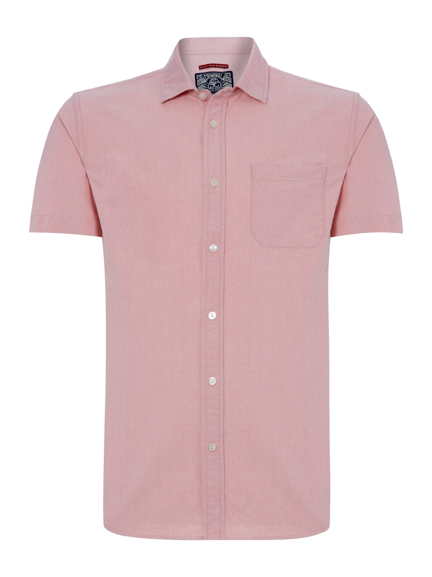 Morgan Oxford Short Sleeved Shirt