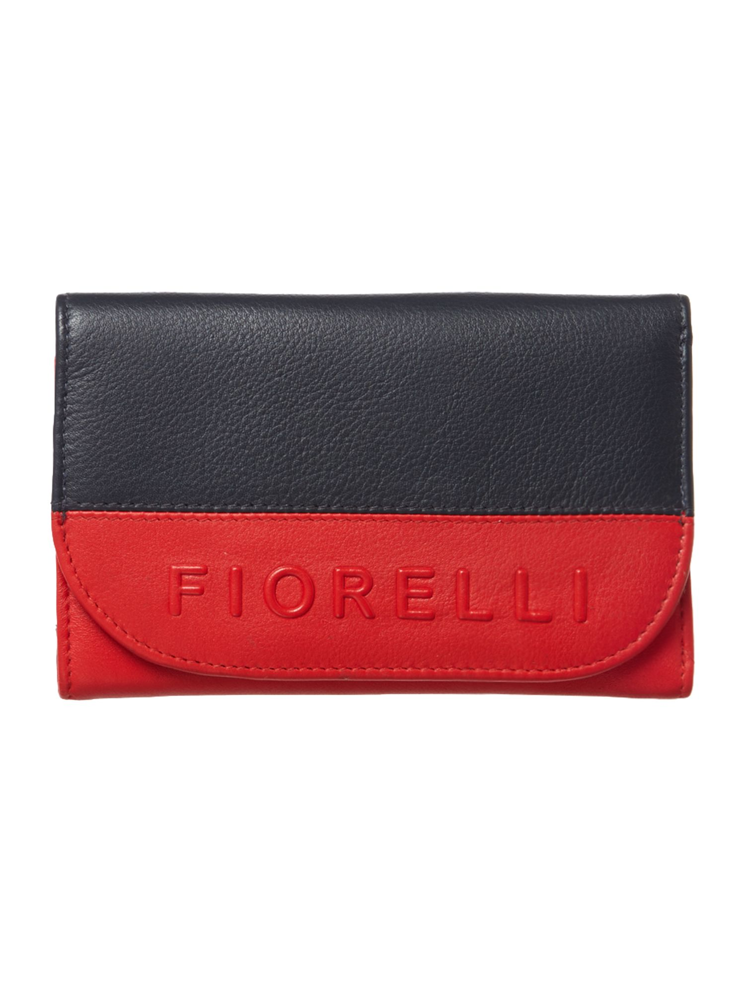 Neema small navy flapover purse