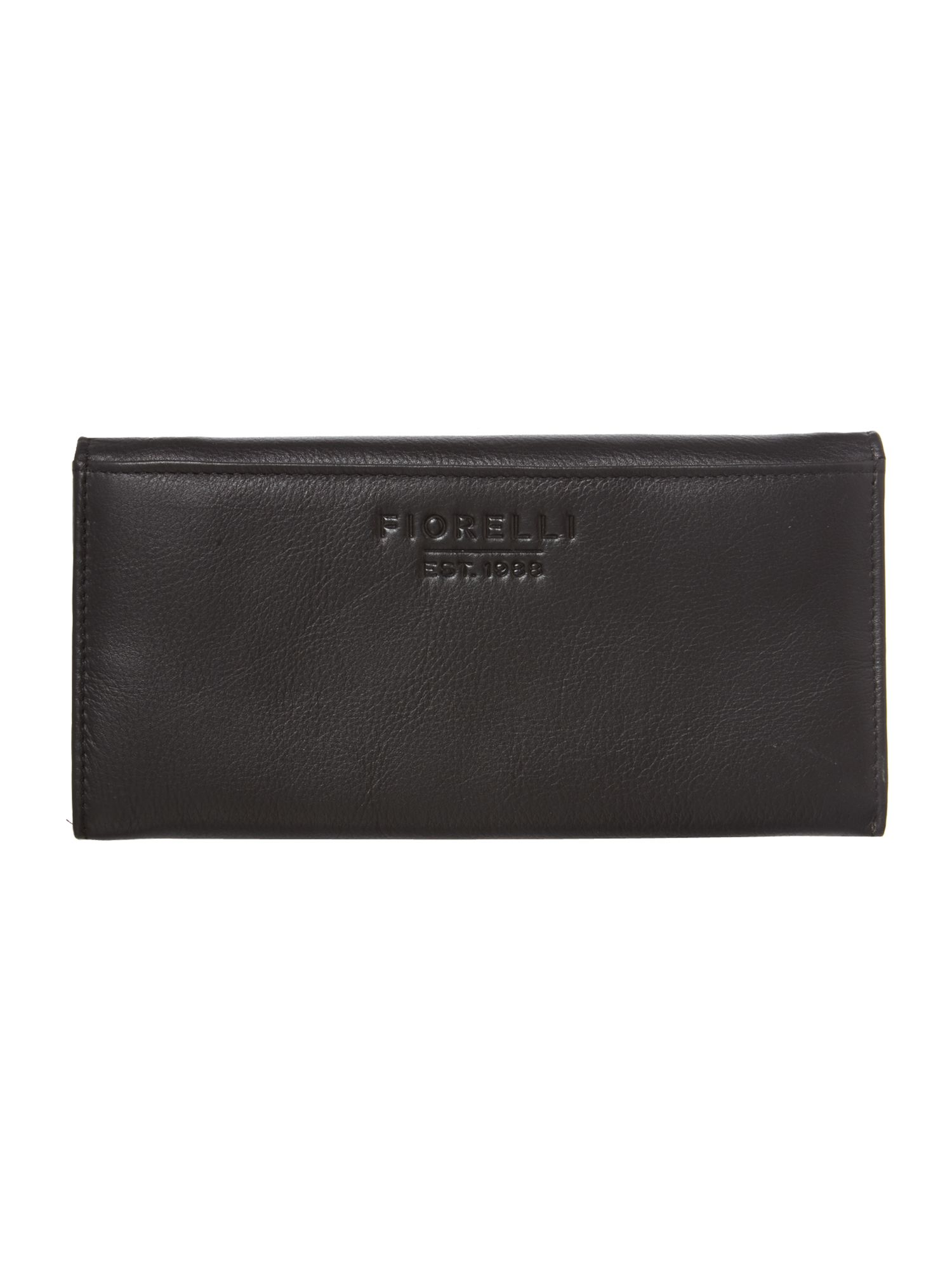 Sarah large black flapover purse