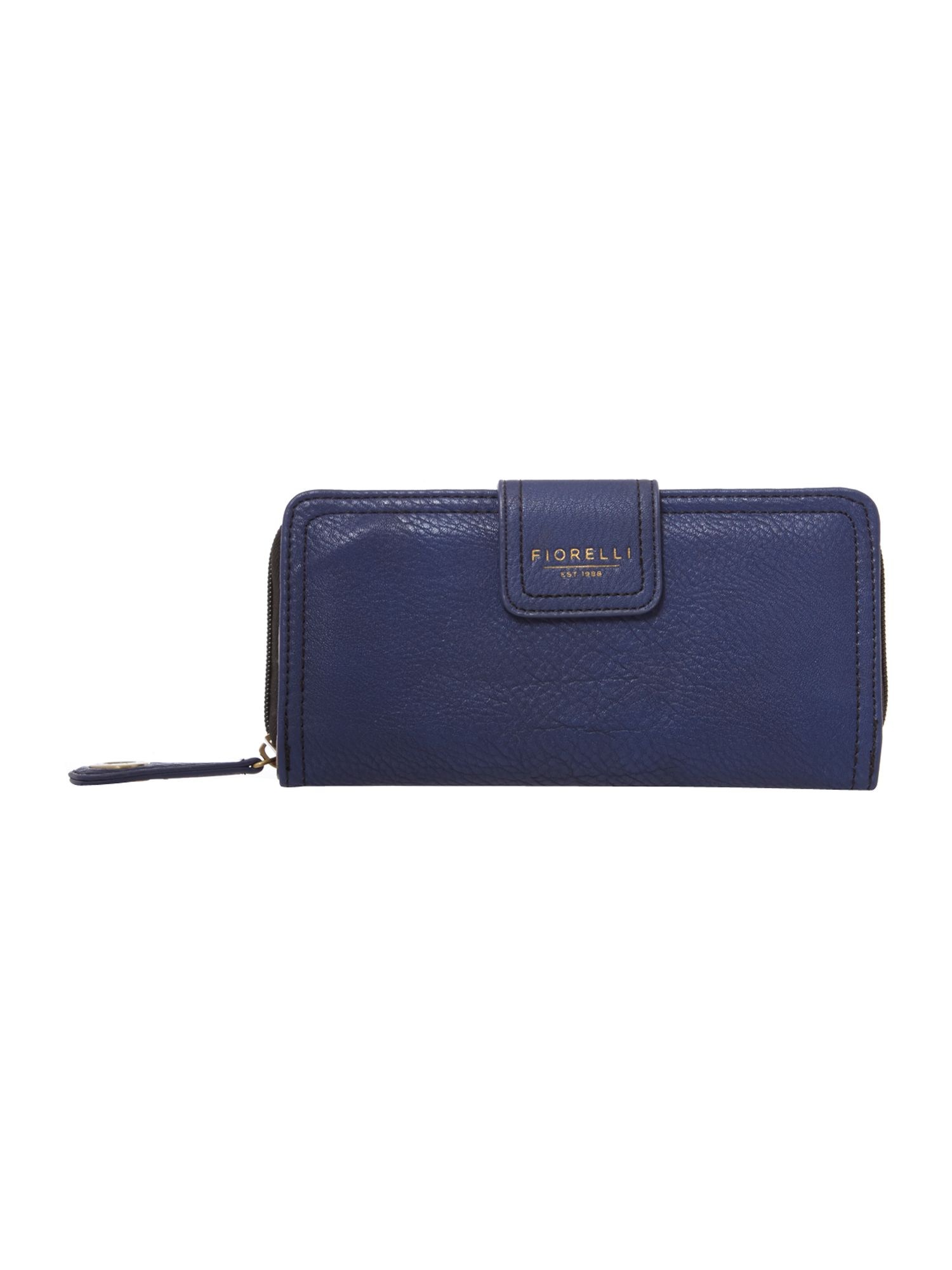 Amber large navy zip around purse