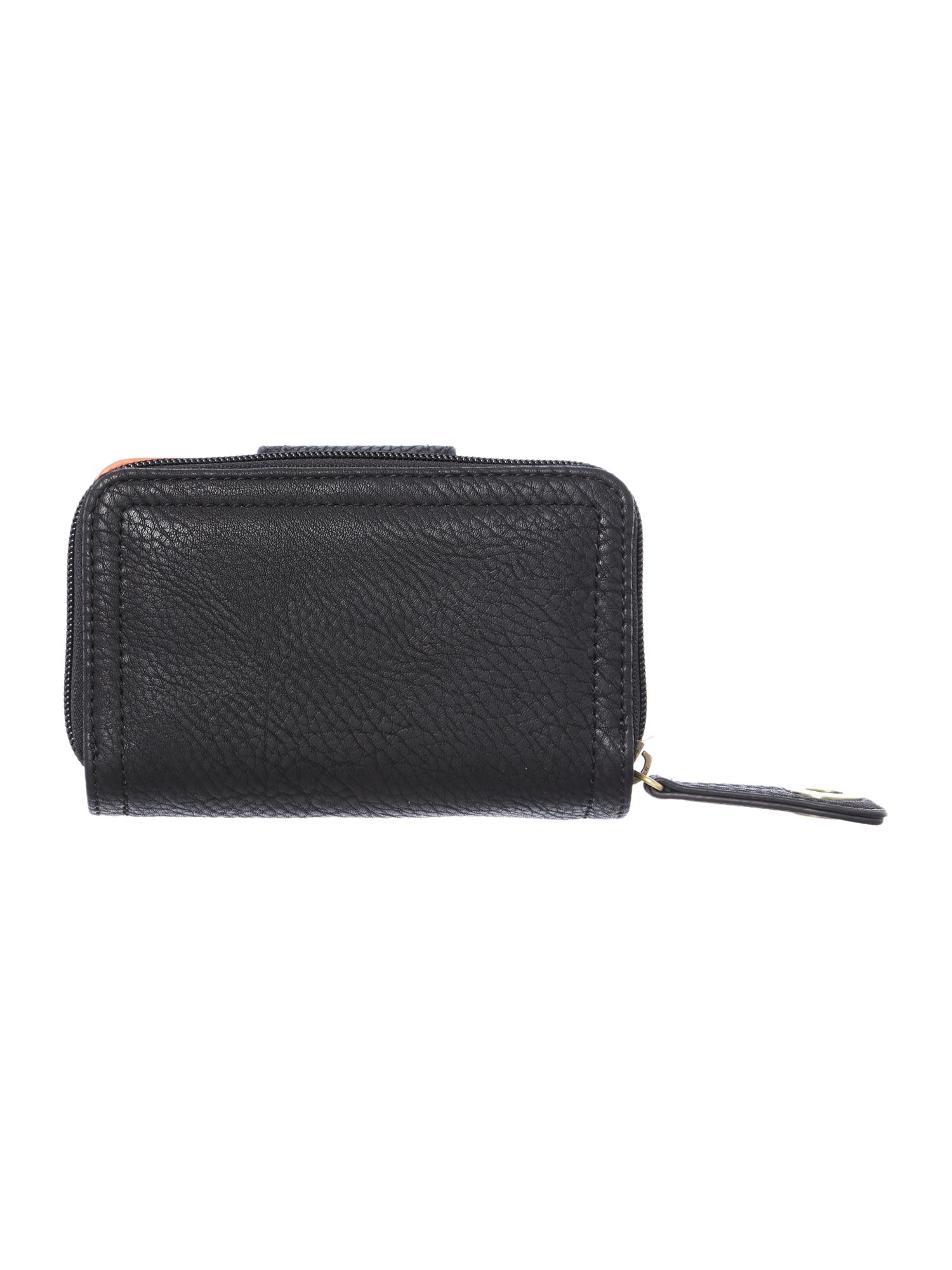 Takara small black zip around purse