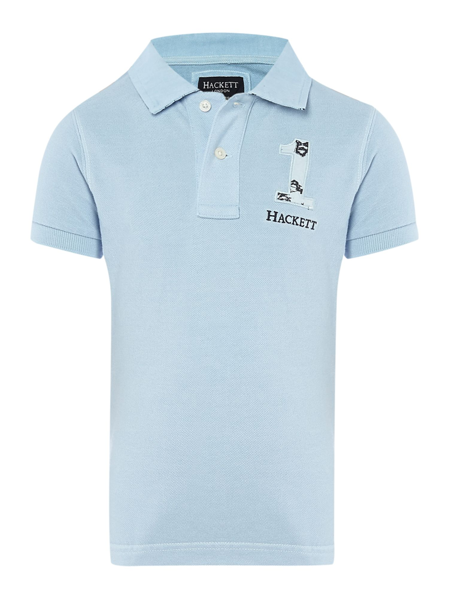 Boy`s polo with hawaiian print logo