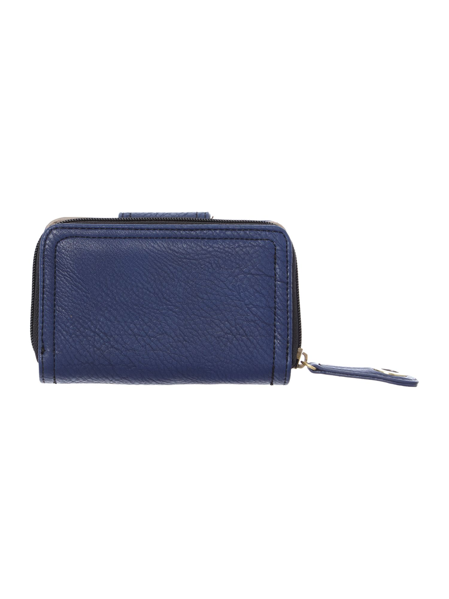 Takara small navy zip around purse