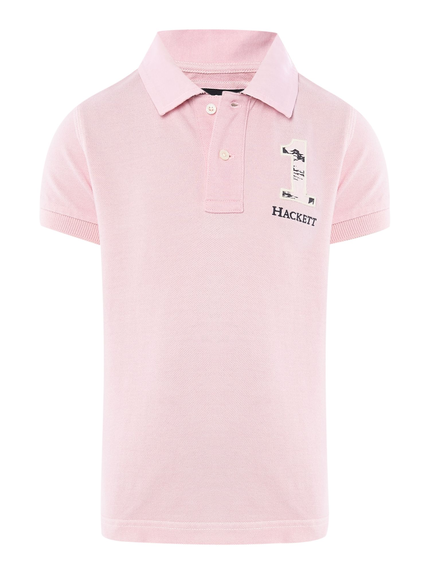 Boy`s hawaiian print polo