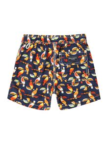 Boy`s toucan print trunks