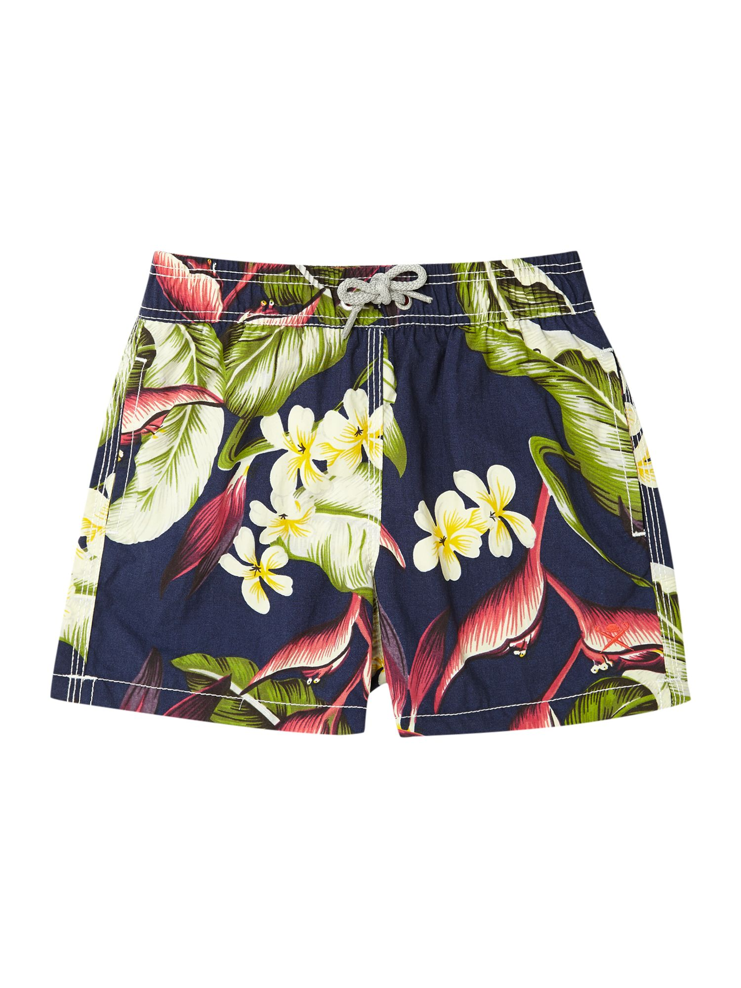 Boy`s tropical print trunks