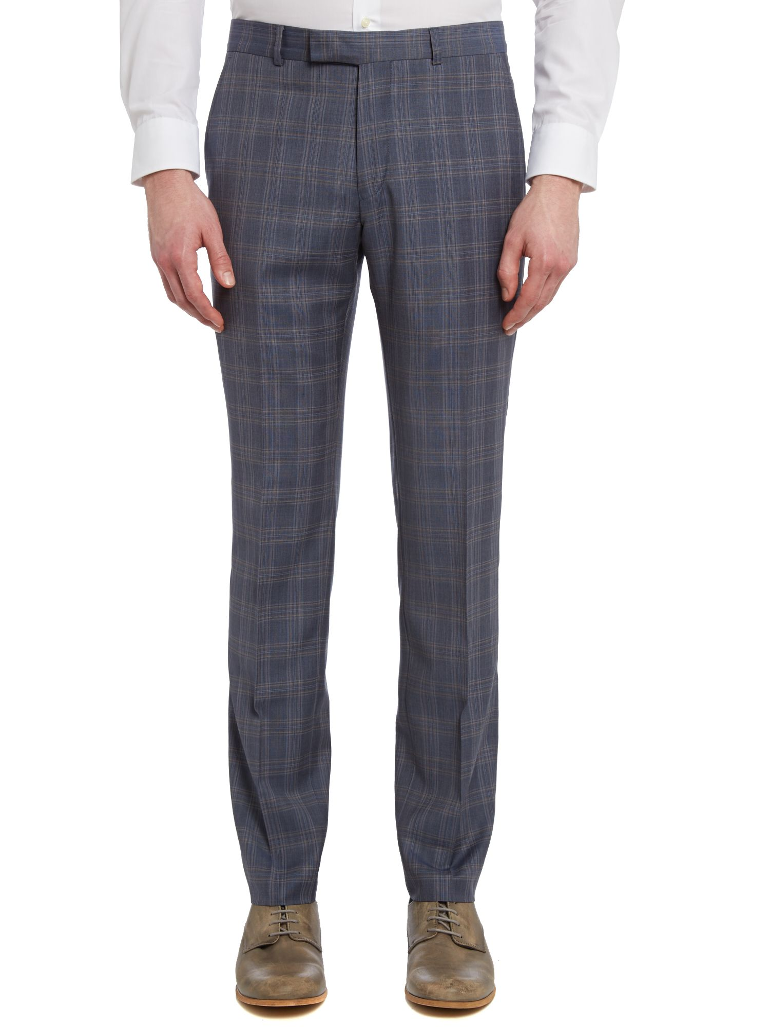 Camden check slim suit trousers