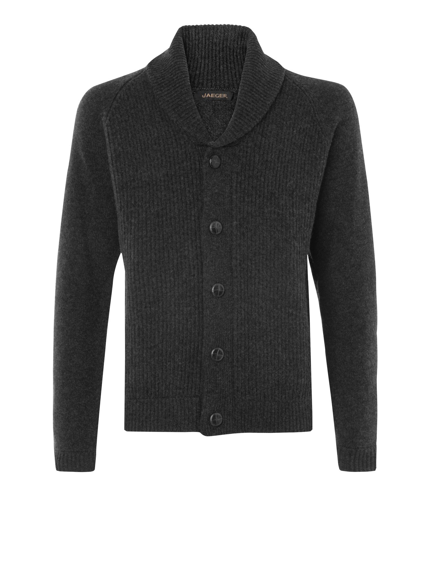 Shawl collar lambswool cardigan