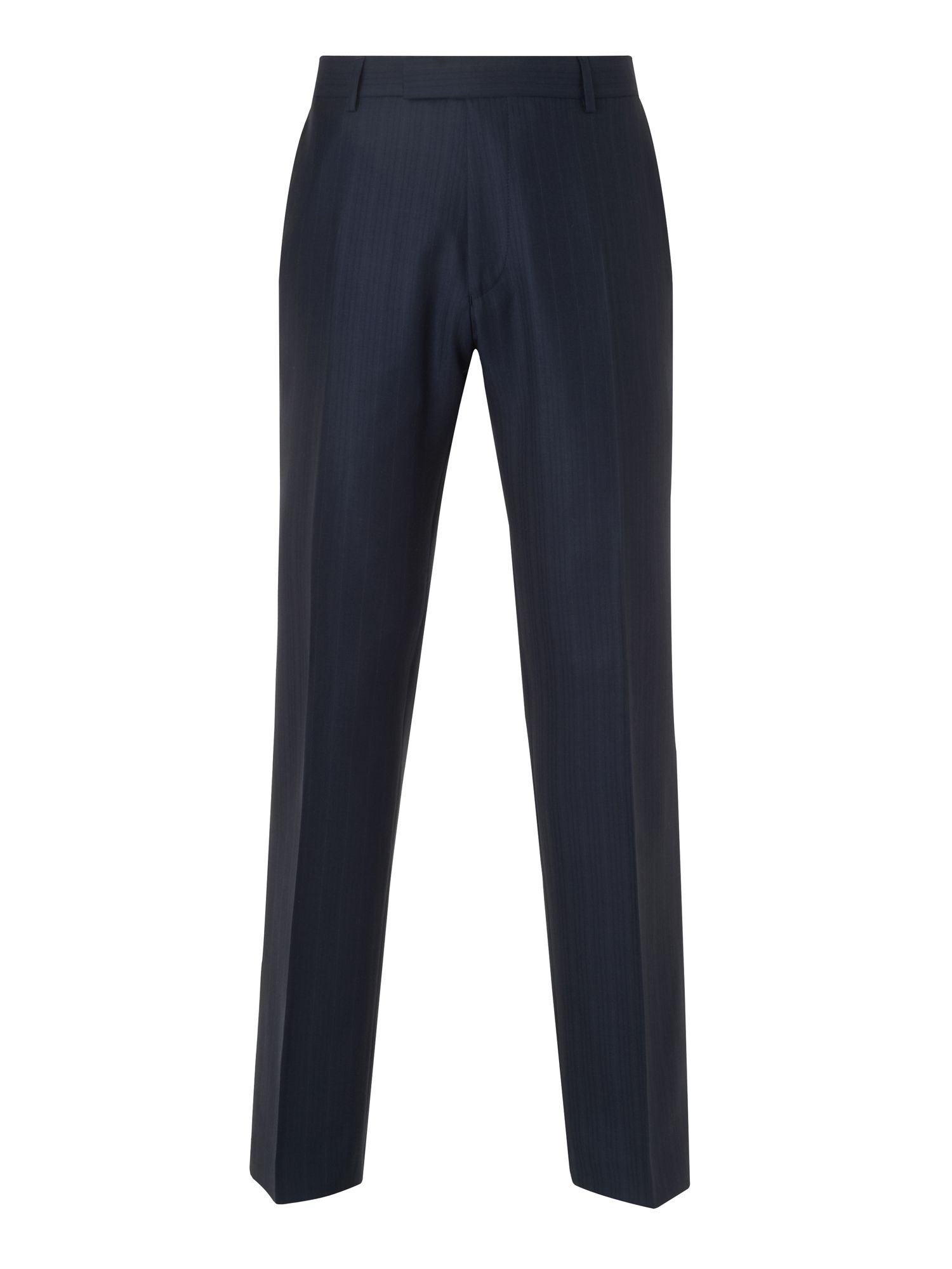 Lanolin twill banker stripe trousers